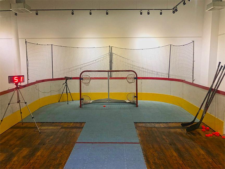 Jeu de hockey, cibles, vitesse, radar