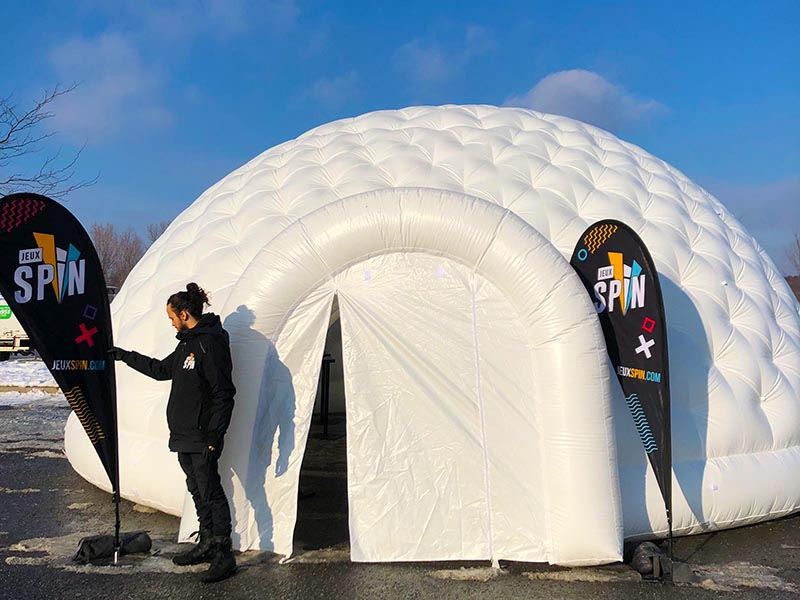 Igloo gonflable géant