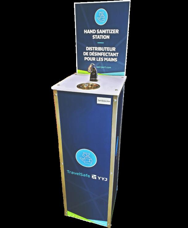 Borne sanitaire Sanibox pour COVID